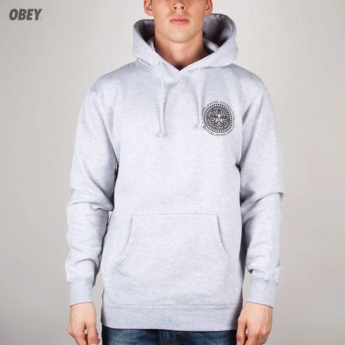 Толстовка OBEY Legion Hoodie (Heather-Grey, XL) цены