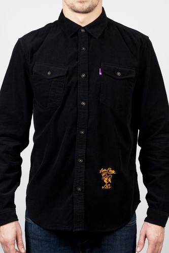 Рубашка MISHKA Corduroy Shirt (Black, L) рубашка norveg classic размер l 3l1rl 002 l black page 9