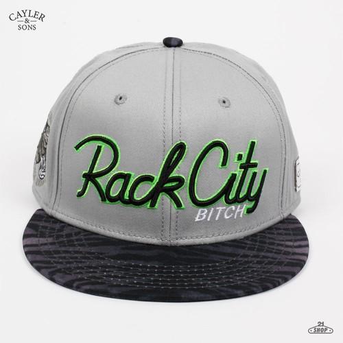 Бейсболка CAYLER & SONS Rack City (Grey-Black, O/S) бейсболка cayler