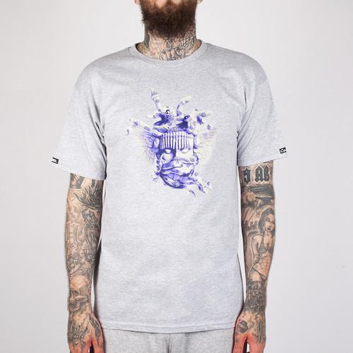 купить Футболка CROOKS & CASTLES Ceramic Medusa Crew T-Shirt (Heather Grey-2, M) дешево