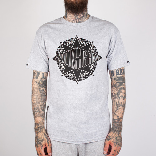 купить Футболка CROOKS & CASTLES Crooks Gang Crew T-Shirt (Heather Grey-2, L) дешево