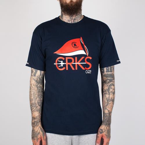 Футболка CROOKS & CASTLES Nautical Crks Crew T-Shirt (Navy, XL) цена