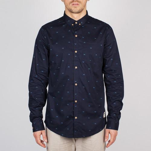 Рубашка IRIEDAILY Flag x Shirt (Navy-350, XL) недорго, оригинальная цена