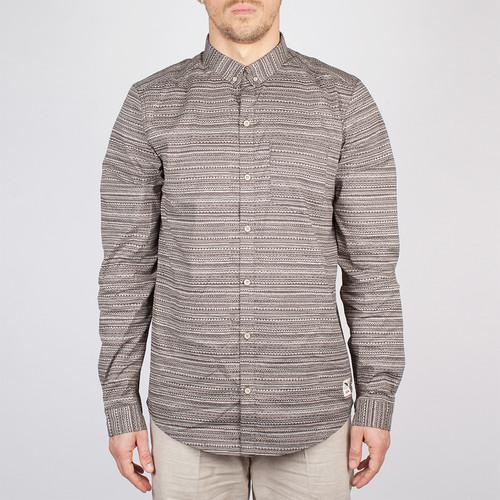 Рубашка IRIEDAILY La Banda LS Shirt (Charcoal-702, M) недорго, оригинальная цена