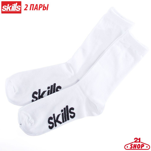 Носки SKILLS Long Slim (White, O/S)