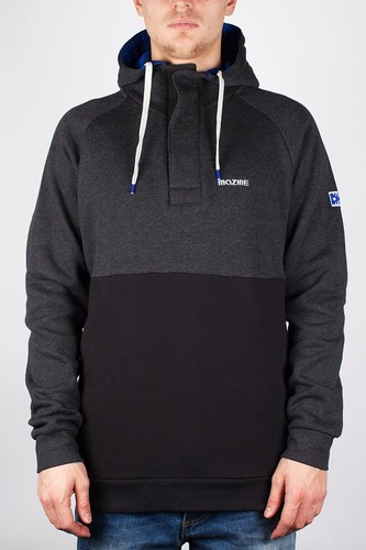 Толстовка MAZINE Male Basic Buttoned Hoody (Black-Mel-Black, XL)