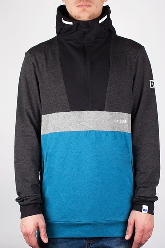 Толстовка MAZINE Male Half Zip Hoody 01 FW13 (Ink-Blue-Mel-Black-Mel, M)