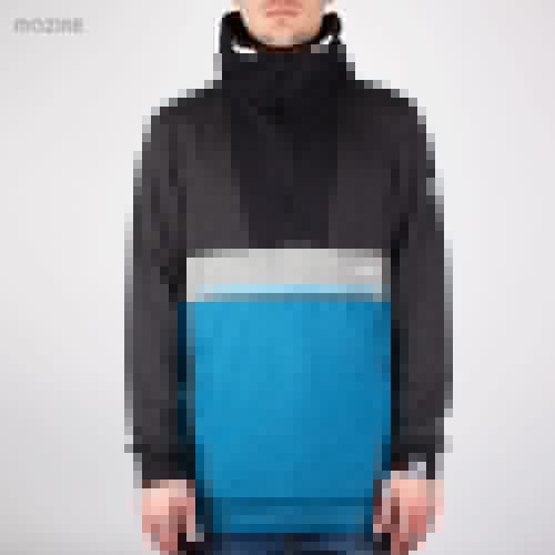 Толстовка MAZINE Male Half Zip Hoody 01 FW13 (Ink-Blue-Mel-Black-Mel, M) толстовка mazine male basic hoody fw13 black mel black xs