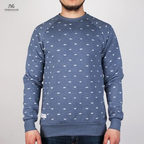 купить Толстовка TURBOKOLOR Hugo Sweatshirt FW13 (Navy-Heather-Custom-Pattern, L) дешево