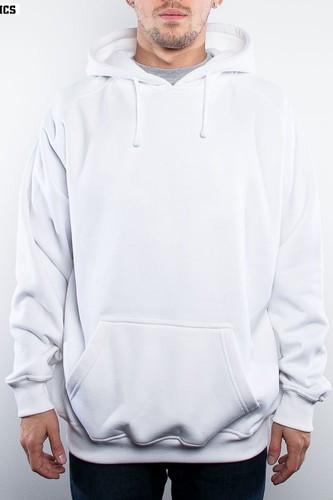 Толстовка URBAN CLASSICS Blank Hoody (White, XL) толстовка urban classics ladies oversize 3 tone block hoody blk firered coolpink xl