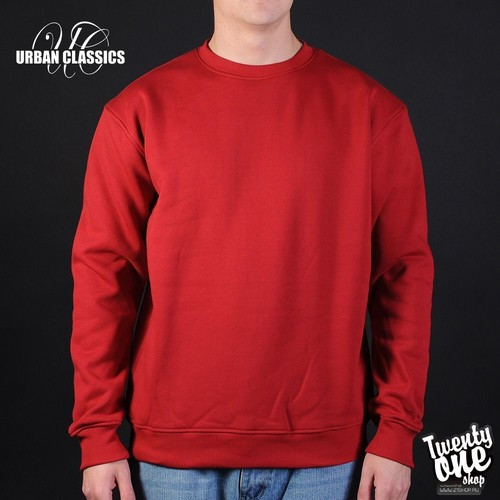 Толстовка URBAN CLASSICS Crewneck Sweatshirt (Ruby, 3XL) лонгслив urban classics contrast tall tee l s grey white 3xl