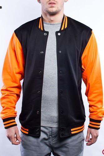 Толстовка URBAN CLASSICS Neon College Jacket (Black-Orange, M)