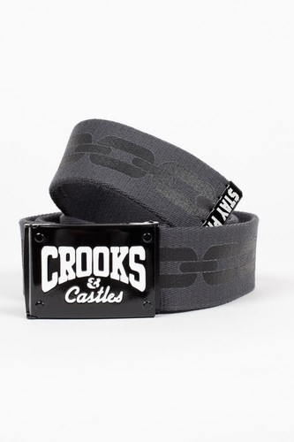 Ремень CROOKS & CASTLES Core Logo (Cement-Black, O/S)