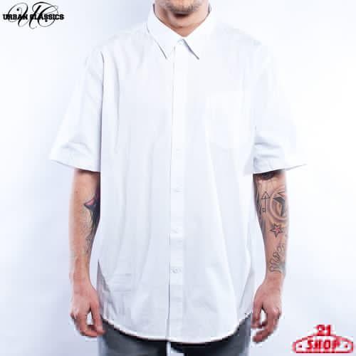 Рубашка URBAN CLASSICS Chino Shortsleeve Shirt (White, S) рубашка norveg soft shirt размер l 2043 14sw1rl 006 l ocean