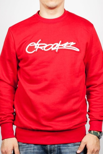 цена на Толстовка CROOKS & CASTLES Slasher Crew (True-Red, XL)