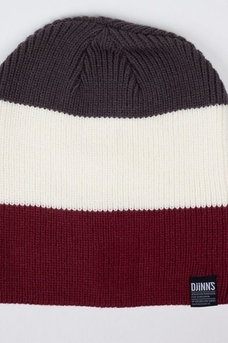 Шапка DJINNS Oversize Beanie Striped 2012 (Grey-White)