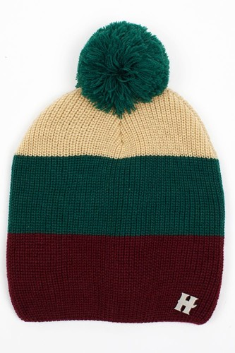 цена Шапка HARRISON Beatrice Beanies (Green-Beige-Wine) онлайн в 2017 году