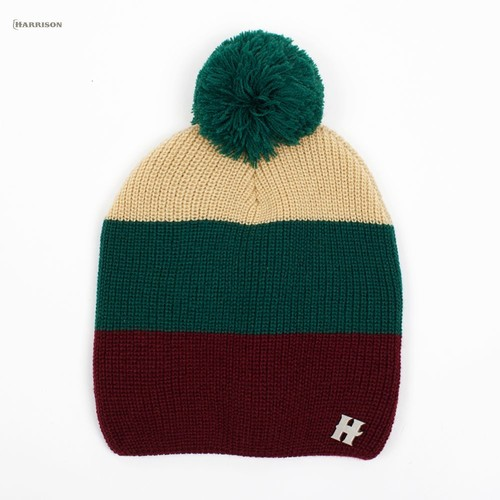 Шапка HARRISON Beatrice Beanies (Green-Beige-Wine)