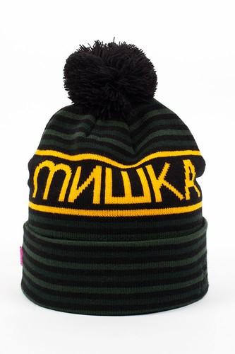 лучшая цена Шапка МИШКА Heatseeker Knit Pom Beanie (Green)