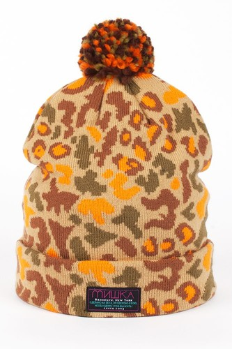 Шапка МИШКА Patterson Oversize Cuff Pom Beanie (Tan) шапка djinns oversize beanie fboing royal