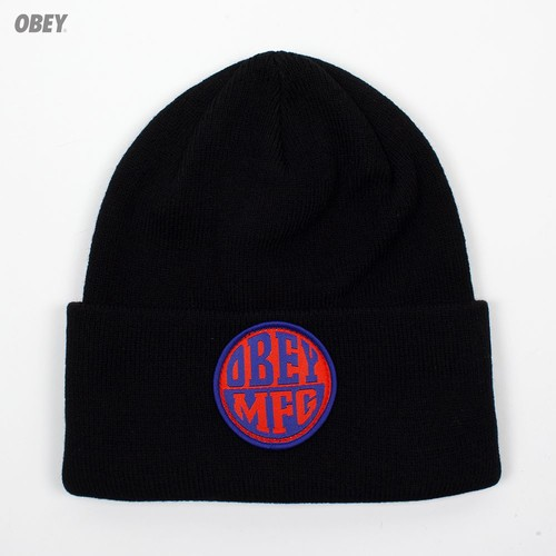 Шапка OBEY Badge Beanie (Black) шапка obey ruger beanie obn134 heather indigo