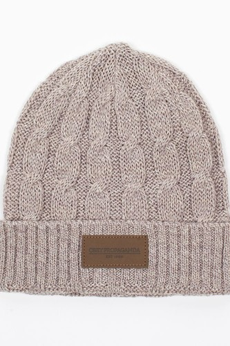 Шапка OBEY Campbell Beanie (Heather-Oatmeal) audio beanie