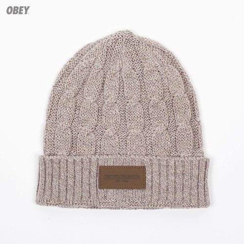 Шапка OBEY Campbell Beanie (Heather-Oatmeal) шапка obey ruger beanie obn134 heather indigo