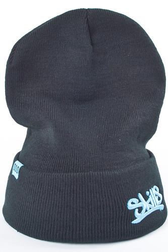 Шапка SKILLS Beanie 001 (Black-Cyan) цена