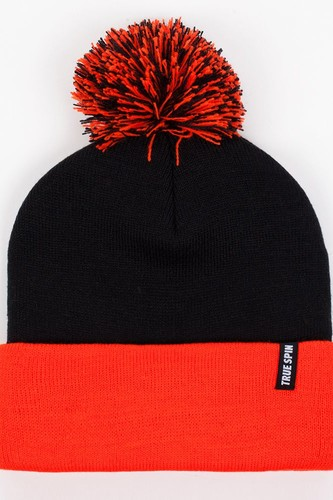 Шапка TRUESPIN Neon Pom 2 Tone (Black-Orange)