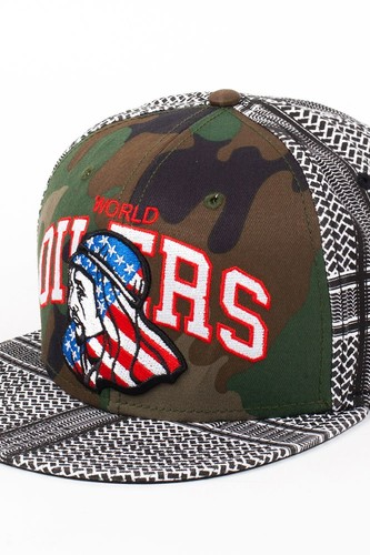 Бейсболка DJINNS 6P Snapback Oilers (Camo-White, O/S)