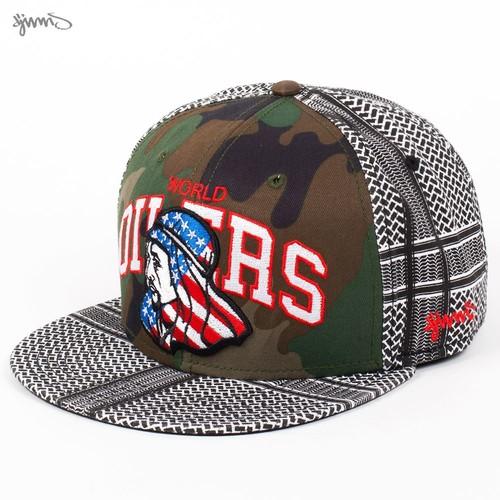 Бейсболка DJINNS 6P Snapback Oilers (Camo-White, O/S) бейсболка djinns 6p snapback tyga r black o s