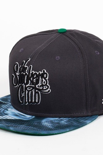 цена на Бейсболка DJINNS 6P Snapback Smokers Club (Charcoal, O/S)