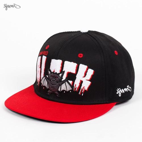 Бейсболка DJINNS 6P Snapback Team Red Blacks (Red-Black, O/S) цена