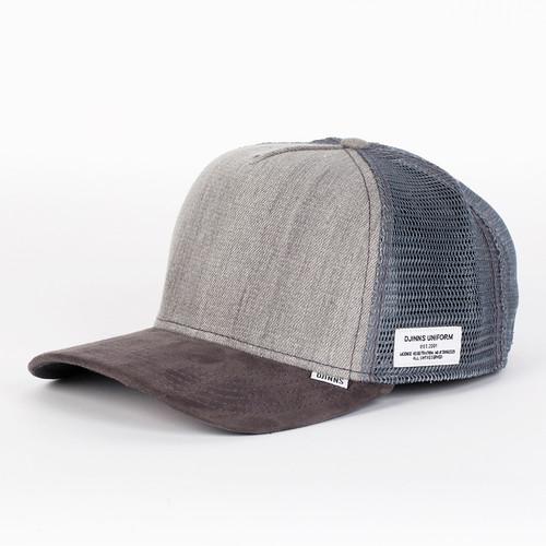 Бейсболка DJINNS Color Denim High Fitted T.cap (Grey, O/S)