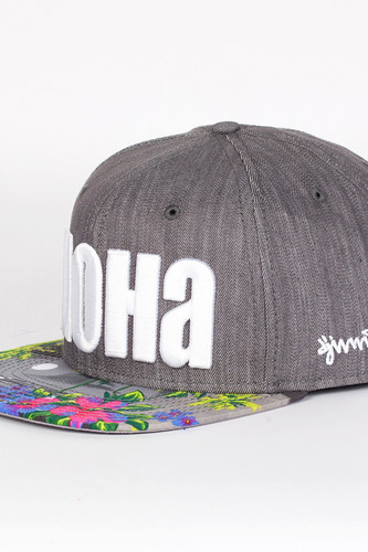 Бейсболка DJINNS Denim Aloha 6 Panel Snapback (Grey, O/S) цена