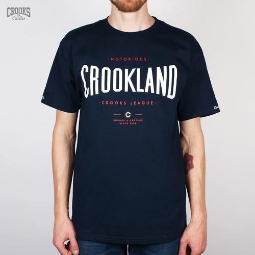 купить Футболка CROOKS & CASTLES I1410719 Crookland (Navy, M) по цене 360 рублей