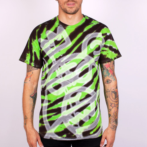 Футболка MISHKA Oversize Bear Mop Tie-Dye Tee (Lime-Tiger-Tie-Dye, 2XL) бейсболка mishka keep watch tie dye new era snapback lime blue tie dye o s