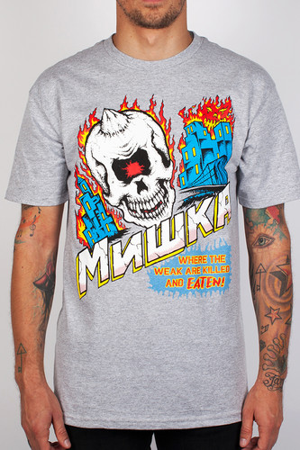 Футболка MISHKA City On Fire Tee (Heather-Grey, XL) цена