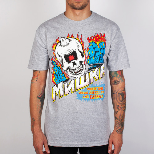 купить Футболка MISHKA City On Fire Tee (Heather-Grey, XL) по цене 418 рублей