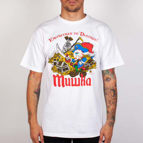 Футболка MISHKA Davy Jones Locker (White, L) футболка mishka davy jones locker white l