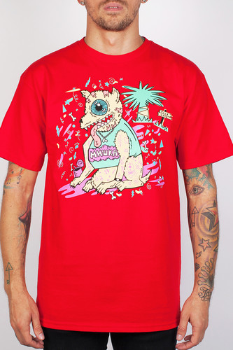 Футболка MISHKA Party Animal Tee (Red, S)