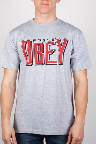 Футболка OBEY Snake Bite (Heather-Grey, XL) все цены