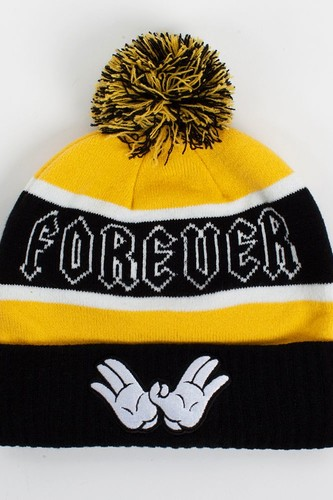 Шапка CAYLER & SONS Forever Pom Beanie (Black-Yellow-White)