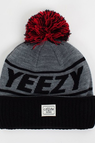 Шапка CAYLER & SONS Yeezy Pom Beanie (Navy-Grey-Red)