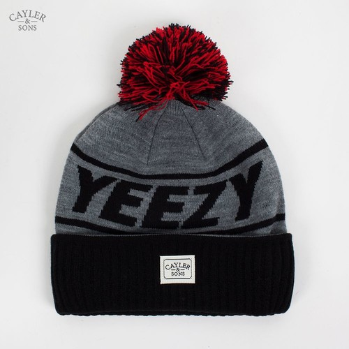 Шапка CAYLER & SONS Yeezy Pom Pom Beanie (Navy-Grey-Red) шапка мишка patterson oversize cuff pom beanie tan