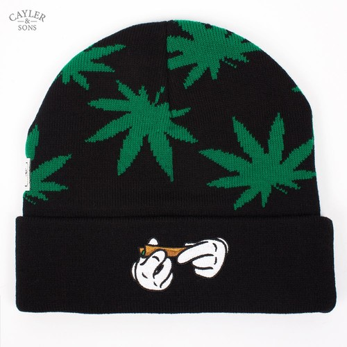 Шапка CAYLER & SONS #kush Beanie (Black-Green-White) шапка cayler