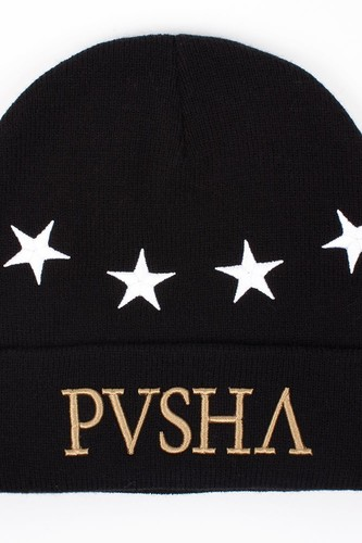 Шапка CAYLER & SONS Pusha Beanie (Black-White-Gold) цена