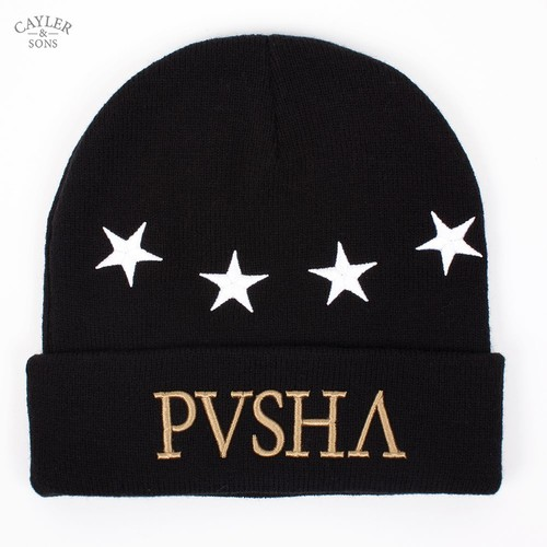 Шапка CAYLER & SONS Pusha Beanie (Black-White-Gold) pusha столик