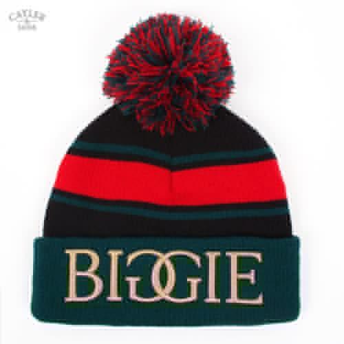 Шапка CAYLER & SONS Biggie Pom Beanie (Black-Green-Red)