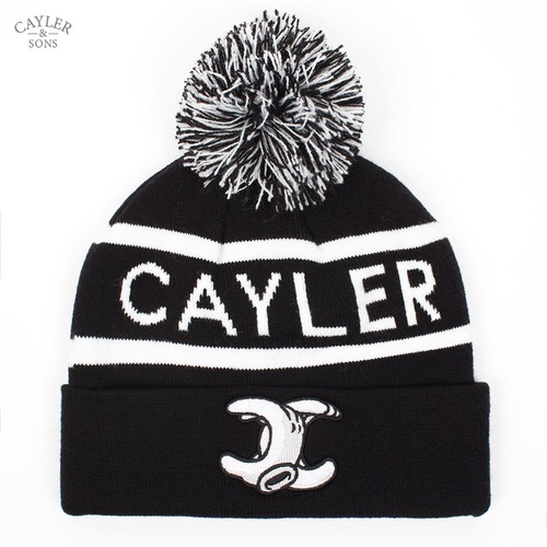 Шапка CAYLER & SONS No.1 Pom Pom Beanie (Black-White) стоимость